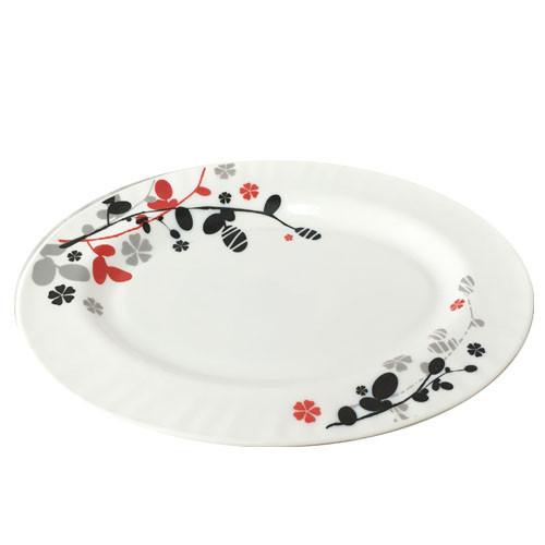 Блюдо овал стеклокерамика 36 см Красное и черное Snt 30063-1066