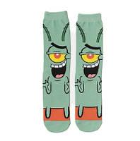 Прикольные высокие мужские носки с принтом Планктона, фото 2