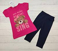 Модный детский костюм летний для девочки 3,4,5,6 лет.