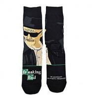 Прикольные высокие мужские носки с принтом Волтер Вайт, фото 2