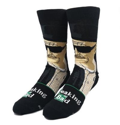 Прикольные высокие мужские носки с принтом Волтер Вайт