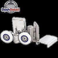 Ролики для душевых кабин нижние, металлические, двойные, поворотные, нажимные ( К-62 А )