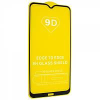 Защитное стекло TDG 9D для Xiaomi Redmi 8A Full Glue черный 0,26 мм в упаковке