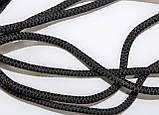 Шнур круглый 6мм с наполнителем 100м черный, фото 2