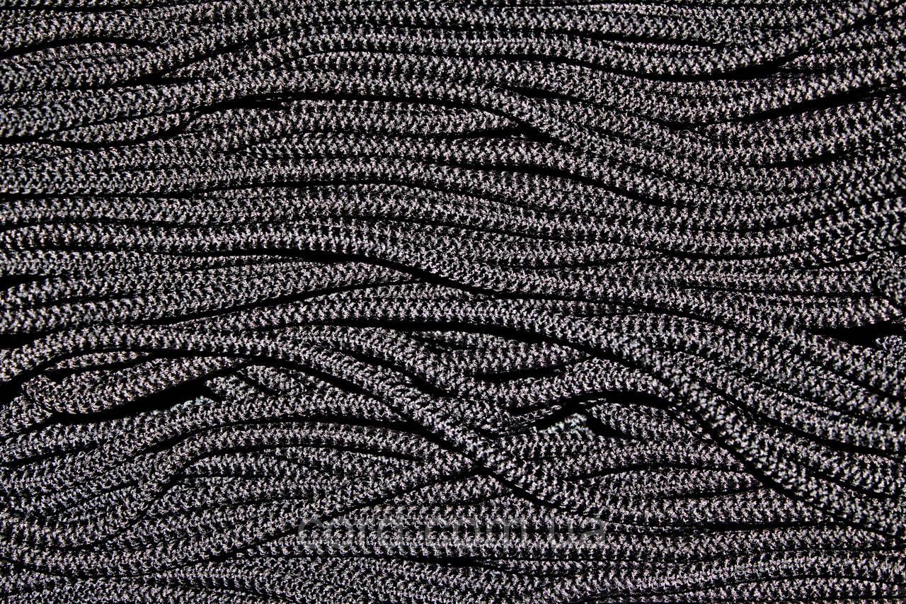 Шнур круглый 6мм с наполнителем 100м черный