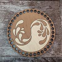 Круглое окрашенное донышко для вязанных корзин Shasheltoys (1001103т)