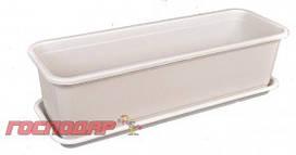 Господар  Ящик балконный с поддоном 16*49*13 см коричневый, Арт.: 92-8050
