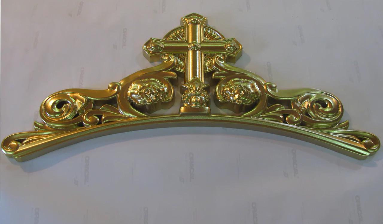 Декор центральний різьблений 300*650