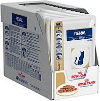 Royal Canin Renal Feline With Chicken Лечебный влажный корм для котов при почечной недостаточности Курица 12x85 г