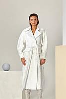 Пальто з свакары білого кольору
