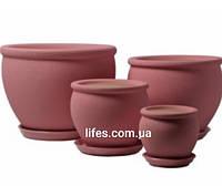 Вазон керамический розовый шелк 0.4л