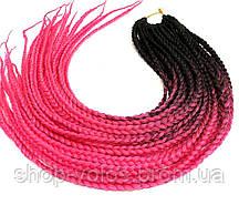 Косички ZIZI черно-ярко-розовые