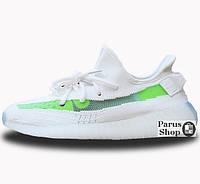 Женские кроссовки Adidas Yeezy Boost 350 White/Green 36