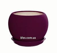 Вазон керамический фиолетовый шелк 0.4л