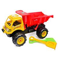 Игрушка для детей автомобиль 08-802 Киндервей Самосвал Гигант с лопаткой и граблями