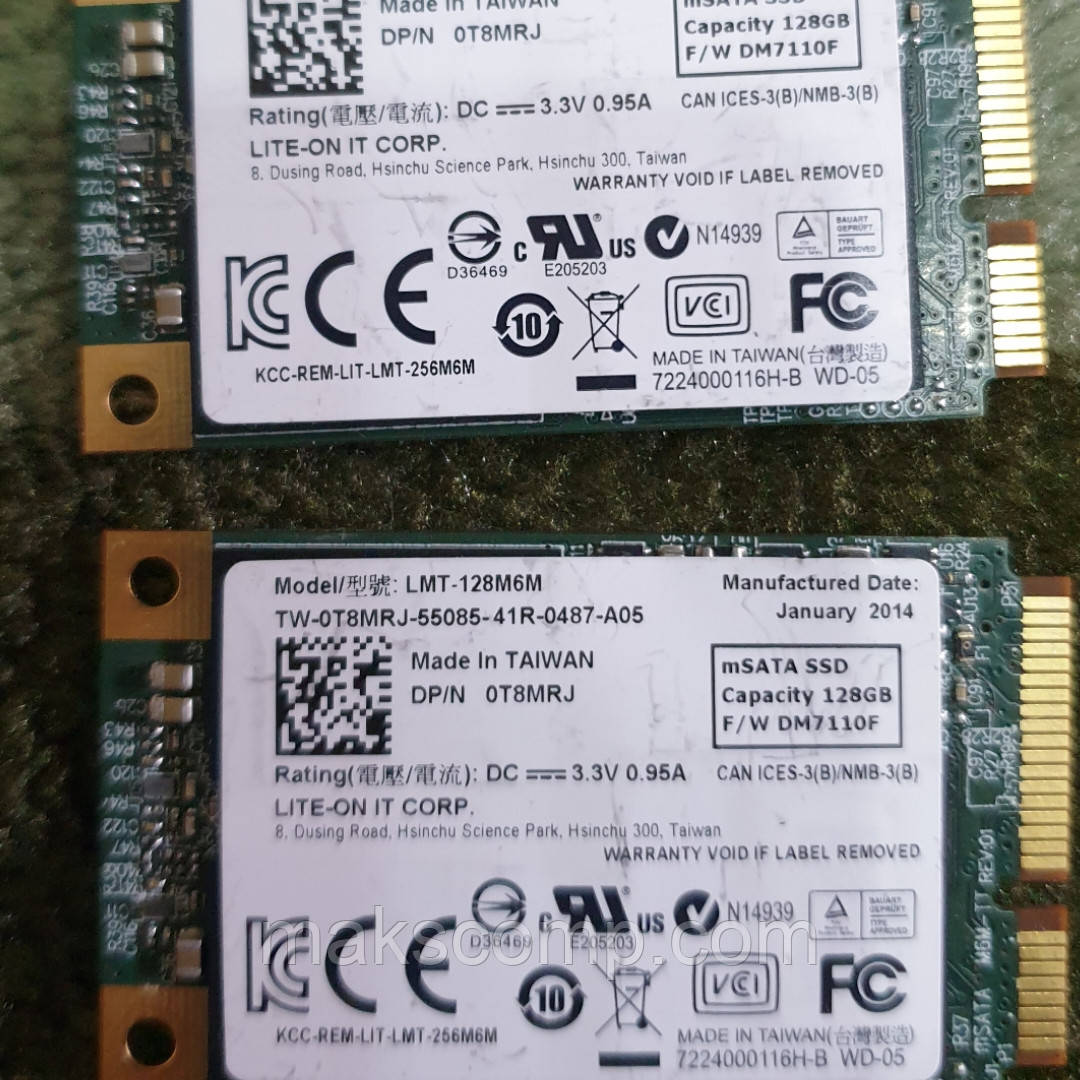 SSD msata LITE-ON LMT-128M6M 128GB SATAIII MLC б/у