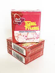 Жевательные конфеты сердечки Hearts Tutti Frutti Red Band , 15 гр