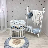 Комплект постельного белья в овальную кроватку Комплект Art Design Boy (6 предметов)