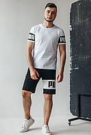 Мужской стильный летний комплект Puma(Пума)  футболка / шорты