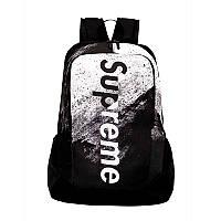 Рюкзак суприм городской черный брендовые спортивные рюкзаки мужской женский  школьный