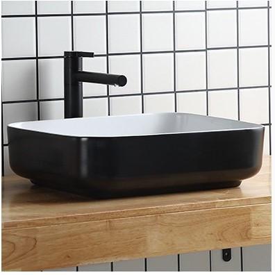 Накладная раковина для ванной Nordic Ceramic. Модель RD-444-2. Прямоугольная 50х40х14