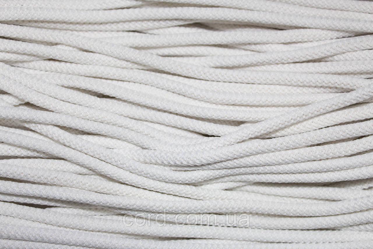Шнур круглый 6мм с наполнителем 100м белый