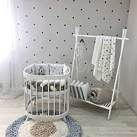 Комплект постельного белья в овальную кроватку Art Design Majestic (6 предметов)