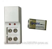 """Зарядное устройство для батарейки типа """"Крона 9V""""+ аккумулятор крона 1шт (UDKJF78FJJF)"""