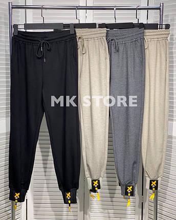 Спортивные брюки средней посадки из двунитки на резинке, 4цвета, Р-р.М, L, XL, 2XL, 3XL Код 294Т, фото 2
