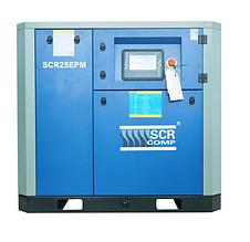 Компресор SCR 25 EРМ (18,5 кВт, 0.73 - 3.7 м3/хв) прямий привід, частотник, двигун на постійних магнітах