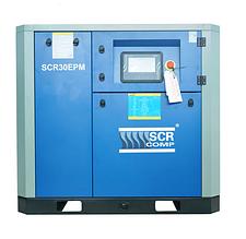 Компресор SCR 30 EРМ (22 кВт, 1.1 - 4.1 м3/хв) прямий привід, частотник, двигун на постійних магнітах