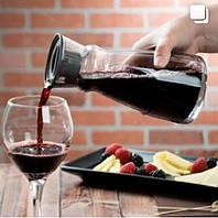 Графин декантер для вина стеклянный Arcoroc Fluid 1л с крышкой L4193