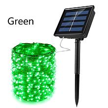 Светодиодный шнур гирлянда на солнечной батарее «TY-N002» 10м 100 Led зелёный