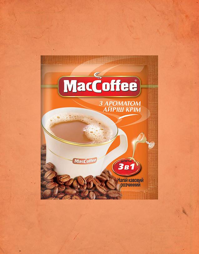 Маккофе 3 в 1 Айріш крем кавовий напій 20 пакетиків