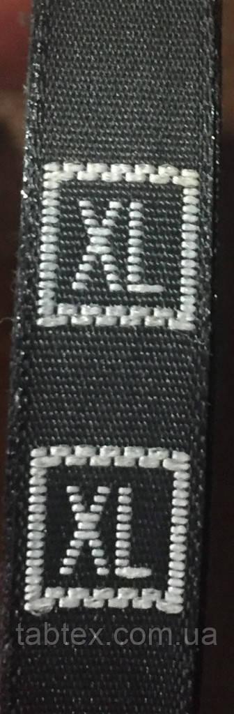 Размерник № XL (720шт) для одежды вышивной черный