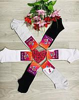 Носки женские летние укороченные сетка хлопок Житомир ТМ Крокус размер 36-40 тёмное ассорти