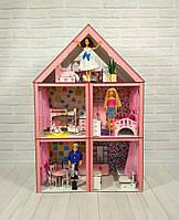 Кукольный домик Большой Особняк Барби с мебелью, фото 1