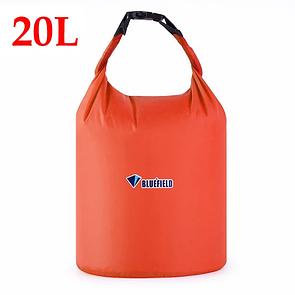 Гермомешок BLUEFIELD 20 литра, водонепроницаемый мешок 40х48 см. Оранжевый