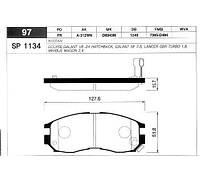 Передние тормозные колодки MITSUBISHI GALANT, LANCER 90- ,SP1134