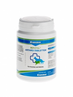 Добавка для собак и кошек Canina Petvital Arthro-Tabletten для суставов, связок и хрящей / 180 таблеток