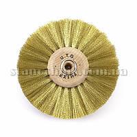 Щетка дисковая латунная UTG  80 мм 4-х рядная, дерев диск (1172)