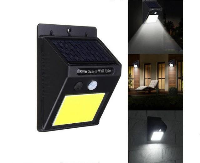 Ліхтар LED з датчиком руху і сонячною батареєю COB 1605 48 діодів