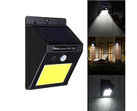 Ліхтар LED з датчиком руху і сонячною батареєю COB 1605 48 діодів, фото 1
