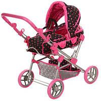 Детская коляска для кукол и пупсов, съемная люлька, снизу корзинка для вещей
