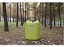 Гермомешок BLUEFIELD 10 литра, водонепроницаемый мешок 34х39 см. Салатовый., фото 4