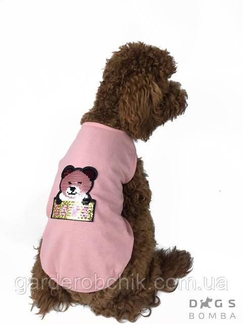 """Футболка """"Мишка Pink""""  для собаки, кошки F-14. Одежда для собак, кошек"""