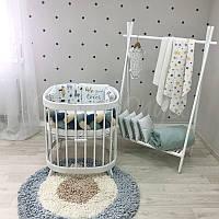 Комплект белья в овальную кроватку Art Design Ламы (6 предметов)