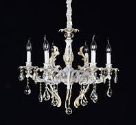 Люстра свечи классическая на цепи белая SD-1962/6 SWH D650*H550 E14*6