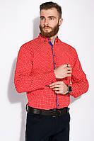 Стильная мужская Рубашка GS 129P059 (Красно-белый)