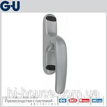 Ручка оконная GU ADAGIO для алюминия (серебро) F1/EV1